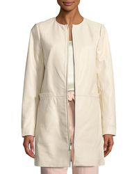 Neiman Marcus - Leather Topper Jacket - Lyst