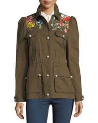 Veronica Beard - Huxley Embroidered Utility Jacket - Lyst