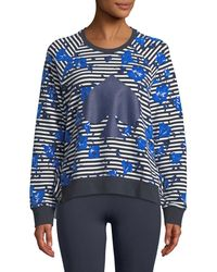 Kate Spade - Hibiscus Striped Ruffle Pullover - Lyst