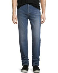 Saint Laurent - Slim Dirty Dark Vintage-wash Jeans - Lyst
