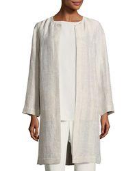 Eileen Fisher - Organic Linen/cotton Topper Jacket - Lyst