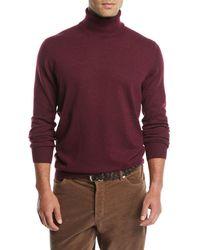 Brunello Cucinelli - Men's Cashmere Turtleneck Sweater - Lyst