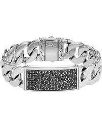 John Hardy - Men's Classic Chain Sterling Silver & Sapphire Id Bracelet - Lyst