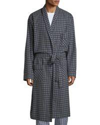 Neiman Marcus - Men's Brushed Flannel Robe - Lyst