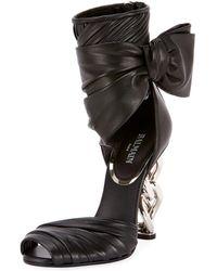 Balmain - Ivy Leather Wrap Chain-heel Sandal - Lyst