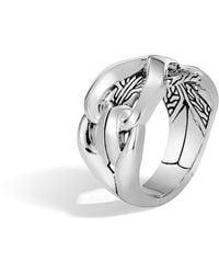 John Hardy - Men's 10mm Classic Chain Silver Ring - Lyst