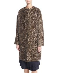 Brock Collection - Cynthia Brushed Leopard-print Caban Coat - Lyst