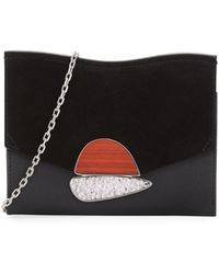 Proenza Schouler - Small Curl Leather & Suede Clutch Bag - Lyst