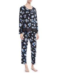 Kate Spade - Floral Print Long Pajama Set - Lyst