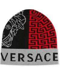 Versace - Graphic Logo Beanie - Lyst