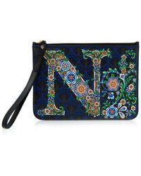 Liberty - Alphabet Iphis-print Wristlet Bag - Lyst