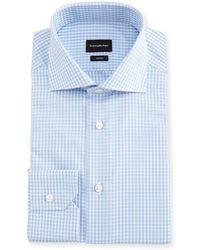 Ermenegildo Zegna - Trofeo® Check Cotton Dress Shirt - Lyst