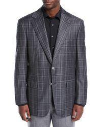 da4bd9634a2 Lyst - Brunello Cucinelli Men s Long Suede Shearling Jacket - Grey ...