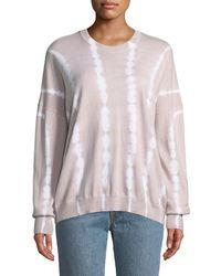 ATM - Tie-dye Cotton-cashmere Crewneck Sweater - Lyst