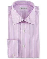 Charvet - Striped Cotton Dress Shirt - Lyst