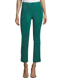 Stouls - Mariarosa Crop Flare Suede Leggings - Lyst