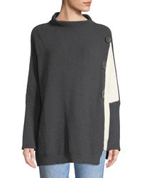 Neon Buddha - Petite Solstice Lightweight Two-tone Cotton Pullover Sweater - Lyst