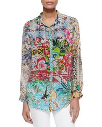Johnny Was - Milla Long-sleeve Floral-print Blouse - Lyst