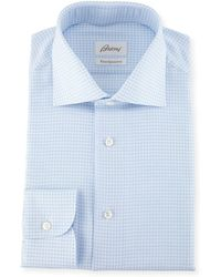 Brioni - Ventiquattro Gingham Cotton Dress Shirt - Lyst