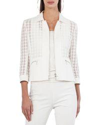 Akris Punto - Bracelet-sleeve Punto Lace Jacket - Lyst