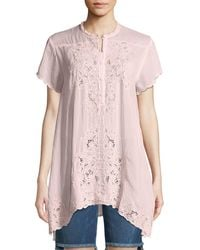 Johnny Was - Dina Short-sleeve Georgette Tunic - Lyst