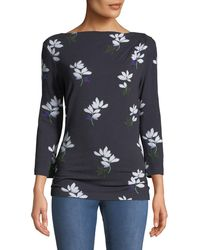 a285173bb64696 Lyst - St. John Painted Oleander Shell in Blue