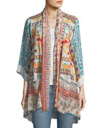 Johnny Was - Betimo Embroidered Printed Kimono - Lyst