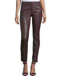 Lafayette 148 New York | Mercer Mid-rise Leather Skinny Jeans | Lyst