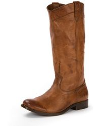 Frye - Melissa Pull-on Distressed Boot - Lyst