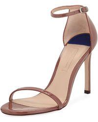 Stuart Weitzman - Nudistsong Patent Strappy Sandals - Lyst