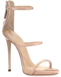 a922fd95d168 Lyst - Giuseppe Zanotti Coline Winged Suede Sandals in Red