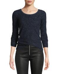 Rag & Bone - Collier Textured Jacquard Long-sleeve Top - Lyst