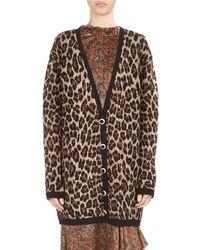 Magda Butrym - Rochester Leopard Intarsia V-neck Cardigan - Lyst