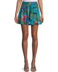 Parker - Bridgette Floral Tie-front Skirt - Lyst