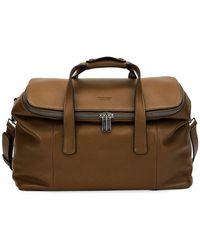 98f45e92e4 Giorgio Armani - Deerskin Leather Weekender Bag - Lyst