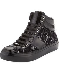 Jimmy Choo - Belgravia Men's Glitter High-top Sneaker - Lyst