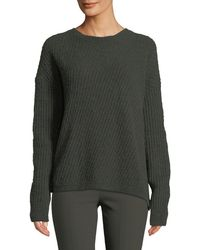 Vince - Side-slit Wool Crewneck Pullover Sweater - Lyst