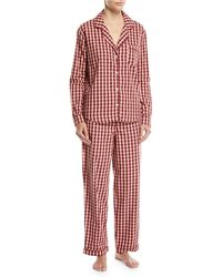 Desmond & Dempsey - Gingham Long-sleeve Pajama Set - Lyst