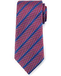 Ermenegildo Zegna   Herringbone Satin-stripe Tie   Lyst