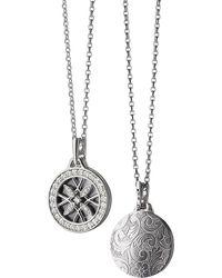 Monica Rich Kosann - 18k White Gold & Diamond Gate Locket Necklace - Lyst