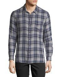 John Varvatos - Men's Reversible Plaid Sport Shirt - Lyst
