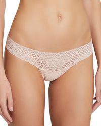 Eberjey - Kaia Seamless Lace Thong - Lyst
