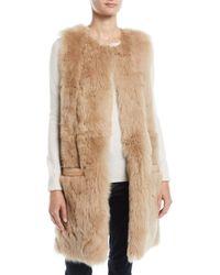 Pologeorgis - Reversible Leather & Lamb Fur Vest - Lyst