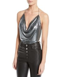 Ramy Brook - Rosa Draped Chainmail Halter Top - Lyst