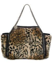 fe89acefa33 Stella McCartney - Small Falabella Snow Cat Fur Free Fur Reversible Tote Bag  - Lyst