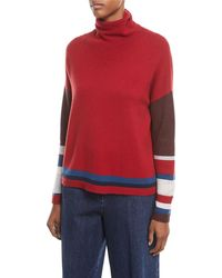 Loro Piana - Turtleneck Long-sleeve Striped Cashmere Sweater - Lyst