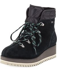 UGG - Birch Lace-up Wedge Hiker Booties - Lyst