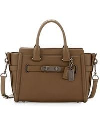 COACH - Swagger 27 Leather Satchel Bag - Lyst