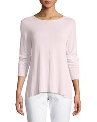 Eileen Fisher - Sleek Seamless Jewel-neck Top - Lyst