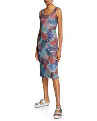 Splendid - X Margherita Brillare Floral Metallic Sleeveless Dress - Lyst